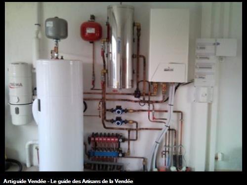 tableau electrique, Pompe à Chaleur avec production d'eau chaude sanitaire intégrée et aspiration centralisée